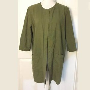 Eileen Fisher 3/4 Sleeve Open Jacket w/ Pockets